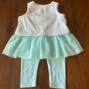 2 for $15! Mint Green & White Sequin Tutu Outfit